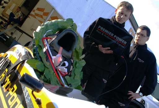 Premier Power & JTR with race winner Josef Newgarden