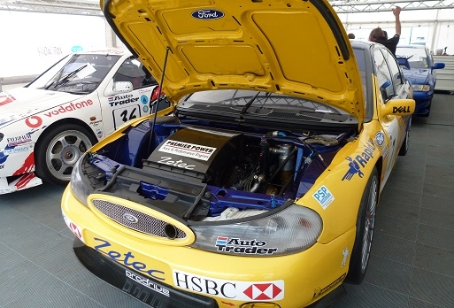 Mondeo BTCC in awning at Silverstone Classic
