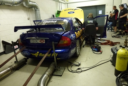 Mondeo BTCC on rollers
