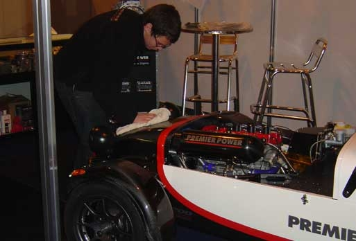Polishing up the Premier Power F200 Caterham Superlight