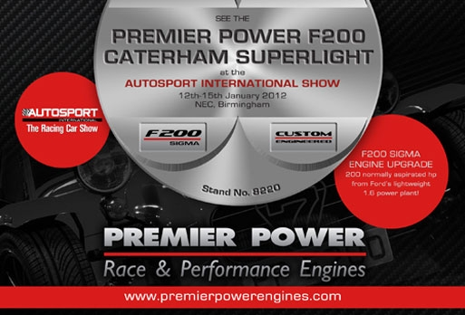 See Premier Power F200 Caterham Superlight at Autosport Show 2012